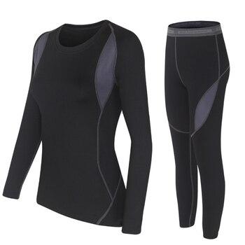 Зимнее женское термобелье плюс бархатное теплое термобелье с технологией горячего высыхания, кальсоны ropa termica mujer invierno