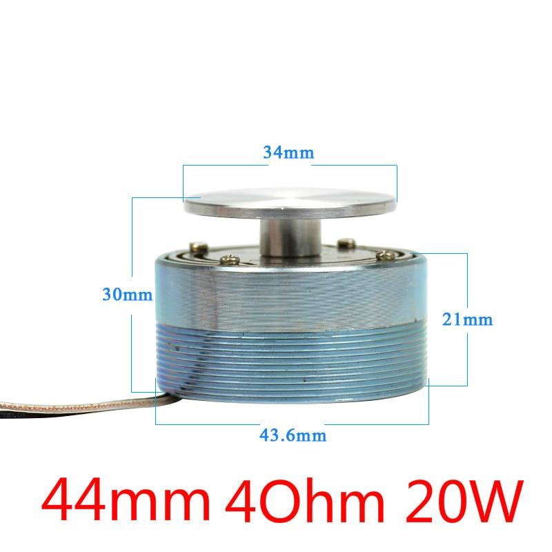 AIYIMA аудио портативный колонки 25 Вт/20 Вт 4 Ом/8 Ом 44/50 мм полный спектр вибрирующий динамик НЧ-динамик, Bluetooth AUX-резонансная томография НЧ-динамик - Цвет: 44mm 4Ohm 20W
