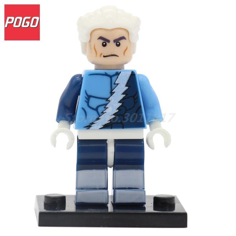 POGO Quicksilver Marvel X men Super Hero Block Building Brick Model Set Collection Single Sale PG024