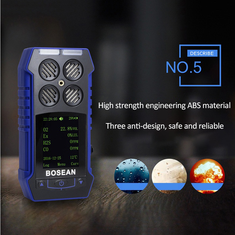 4 in 1 Gas Detector O2 H2S CO2 Combustible Gas Oxygen Carbon Monoxide Gas Analyzer Carbon Dioxide Monitor Gas Leak Detector цена