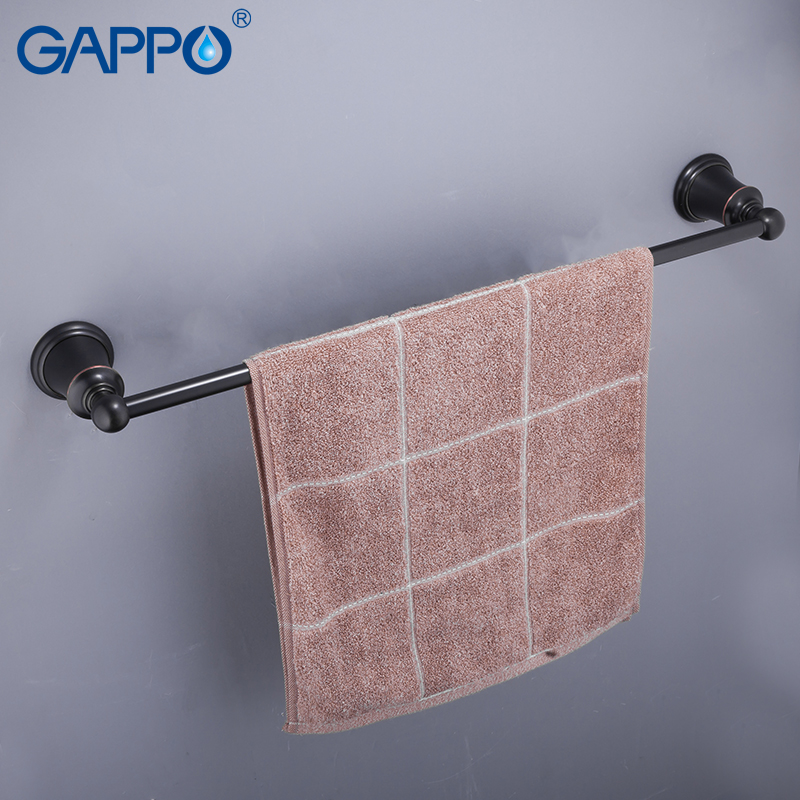 GAPPO Towel Bars black bathroom towel bar holder bath accessories towel rack Robe Hooks Brass Wall shower shelf hanger luxury european brass bathroom accessories bath shower towel racks shelf towel bar soap dishes paper holder cloth hooks hardware page 8