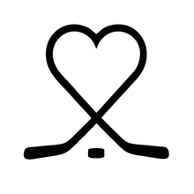 Sticks heart puck love vinyl sticker reflective decal play ice hockey for Snowboard Snow Board Sports