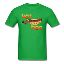 Hot Dog Tshirt All Cotton Mens T-Shirt Summer Green Camisa Funny Streetwear Short Sleeve Tops T Shirt Classic Party Tee Shirts