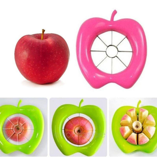1 Pc Apple Slicer Stainless Steel Fruit Divider Blade Cutter Fancy Fruit Slicer Tools Kitchen Home Supplies Accessories Gadgets