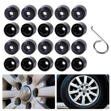 DWCX 20pcs/lot Black Anti-theft Wheel Lug Bolt Center Nut Covers Caps 1K0601173 for Volkswagen Jetta Golf MK5 Passat Touran Polo