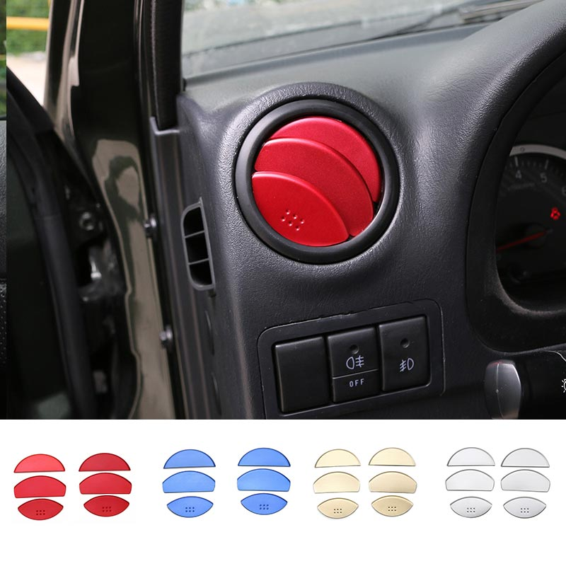 MOPAI New Products Aluminium Car Interior Accessories Air Vent Decoration Cover Sticker Fit For Suzuki Jimny Car Styling for toyota prado j150 2014 2015 abs interior accessories door handle armrest air vent outlet reading lamp cover trims 17pcs set