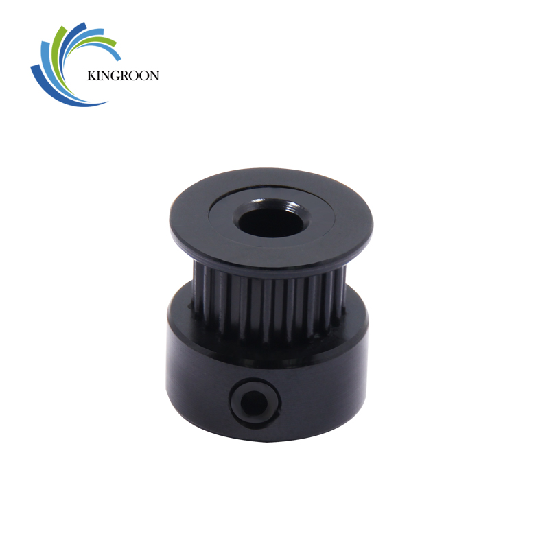 KINGROON 1pc Black GT2 Timing Pulley 20 Tooth 16 Tooth Wheel Bore 5mm 8mm Aluminium Gear Teeth Width 6mm 3D Printers Parts F1