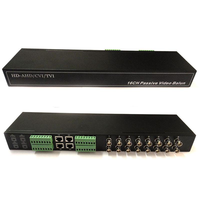16CH 16 Channel Passive Transmitter CCTV Video Balun BNC Female to UTP Rj45 CCTV Camera DVR