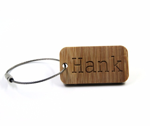 GOALFOOK handmade custom name  keychain  bamboo engrave name keychain for men  personalized gift keychain