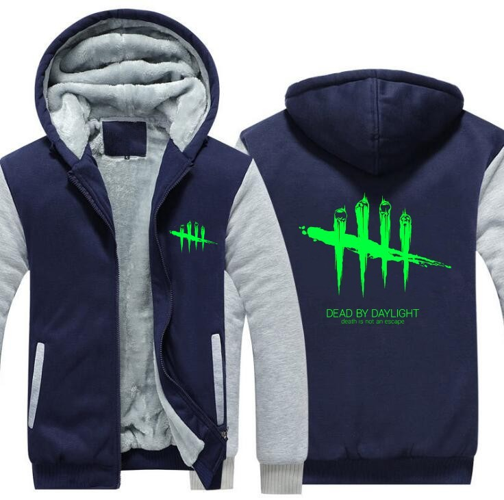 Free shipping European size Men Women Game Dead by Daylight Cosplay Jacket Thicken Coat Sweatshirts Hoodie Zipper