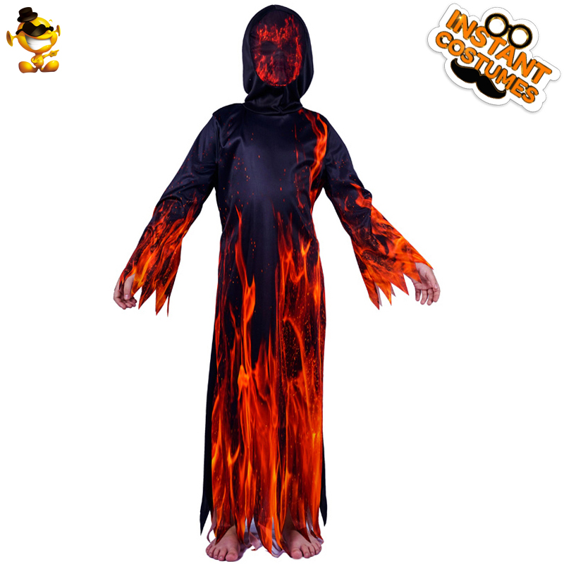 Us 20 32 31 Off Dsplay New Kids Fire Flame Devil Costume Kid S Fashionable Horror Devil For Halloween Fancy Dress Carnival Party Boys Suit In Boys