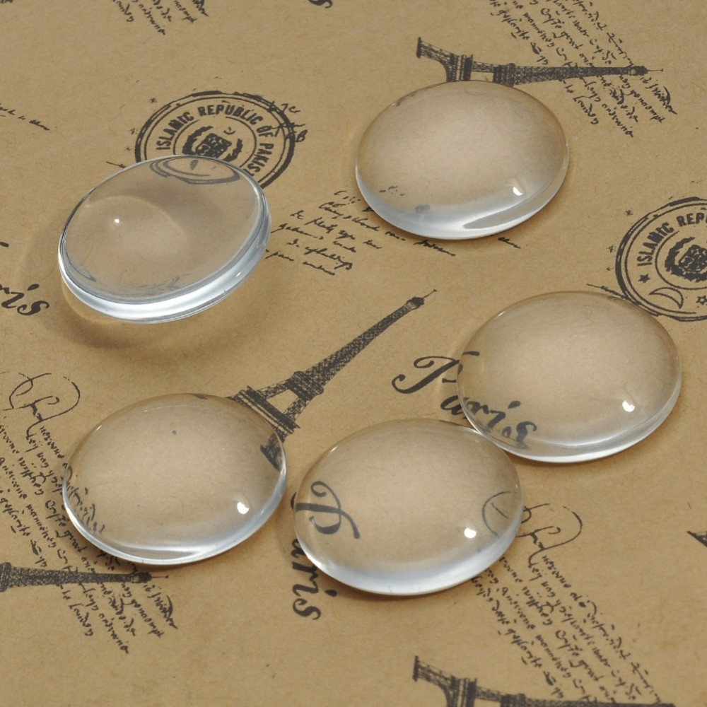 25 30 Bing Website: 100pcs 20mm 25mm 30mm Clear Transparent Flat Clear Round