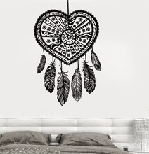 Art  Wall Sticker Dreamcatcher Decoration Vinyl Removeable Poster Ethnic Decor Modern Catcher Decal LY165