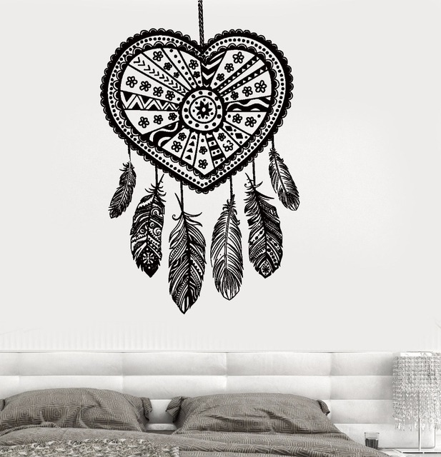 art wall sticker dreamcatcher wall decoration vinyl art removeable