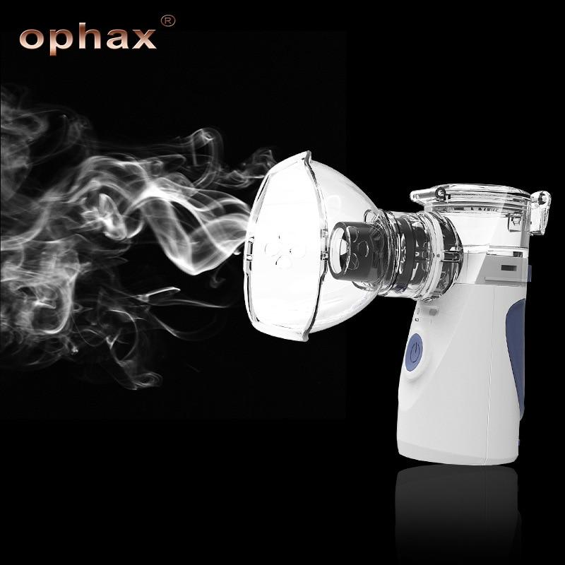 OPHAX Handheld Portable Nebulizer Machine Mini Ultrasonic Inhaler Respirator Humidifier Kit Health Care Family Inhaler Machine portable steaming respirator atomizer inhaler nebulizador humidifier family rhinitis health care nebulizer medical equipment