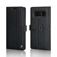 Marke Neue Pierre Cardin Echtes Leder Stand Flip Card Abdeckungs-fall für Samsung Galaxy Note 8 Handy-Fall Freies Verschiffen
