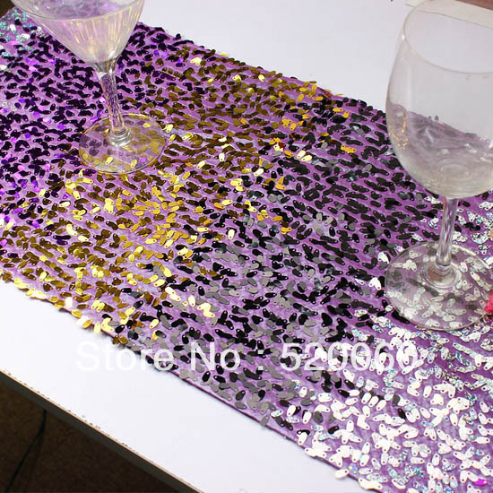 Charming Shiny Purple Gold Black Glitter Silver Oval Sequins Tassel Luxury Table  Runner Table Flag Cloth Dining Outdoor Home Decorations In Table Runners  From Home ...