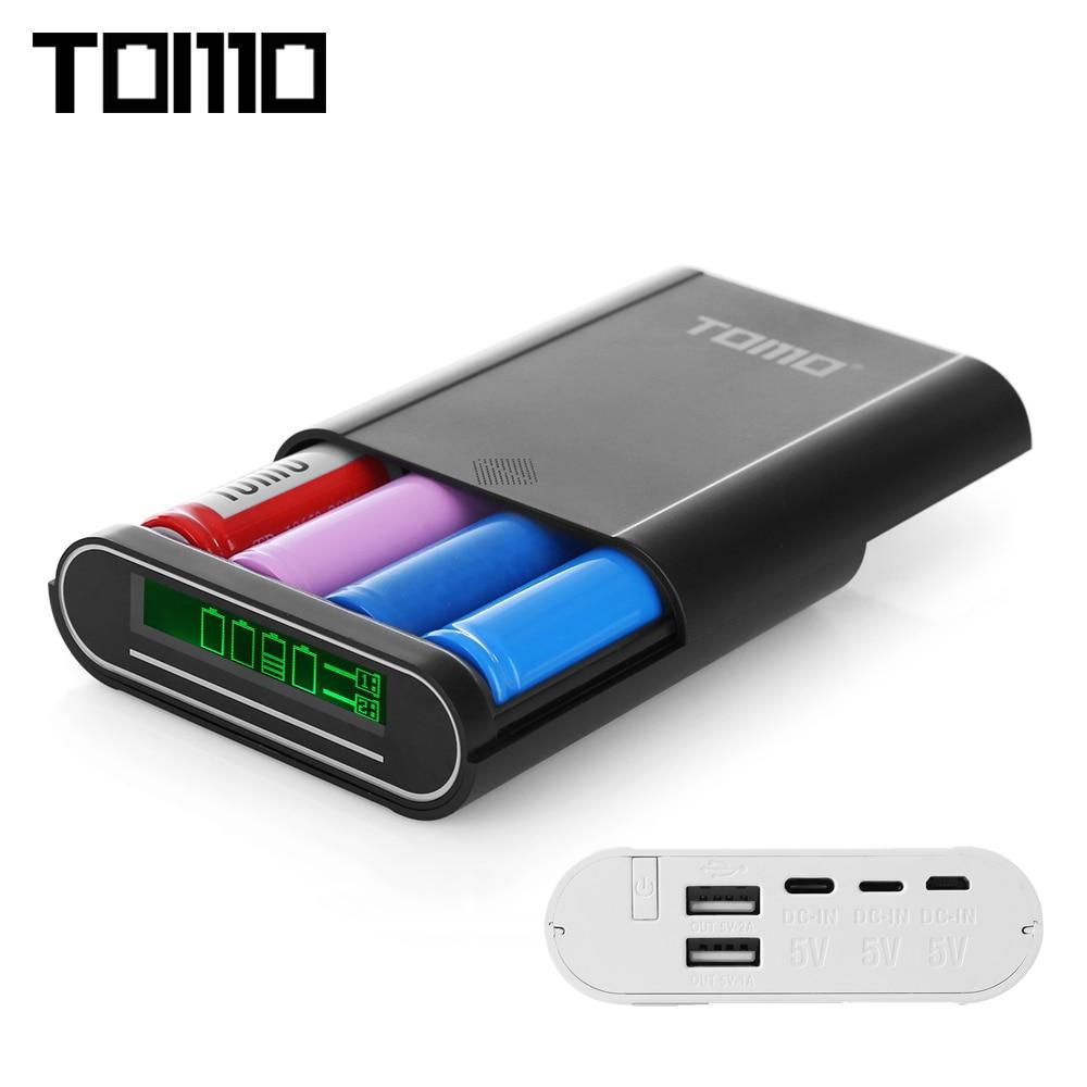 Tomo S4 Powerbank 18650 Li Ion Battery Charger Diy