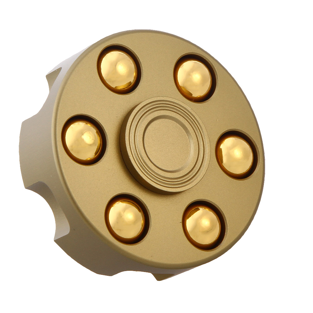 Gold Revolver Gyro Round Wheel Shape Finger Spinner Fidget Metal EDC Hand For Autism/ADHD Anxiety Stress Relief Focus Toys Gifts new luminous metal fidget spinner triangle gyro edc hand finger spinner for autism adhd anxiety stress relief focus toys gift