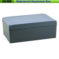 Darmowa wysyłka 1 sztuk/partia najwyższej jakości 100% Aluminium materiał wodoodporny IP66 aluminium prostokątne pudełko 200*130*80mm w Złącza od Lampy i oświetlenie na
