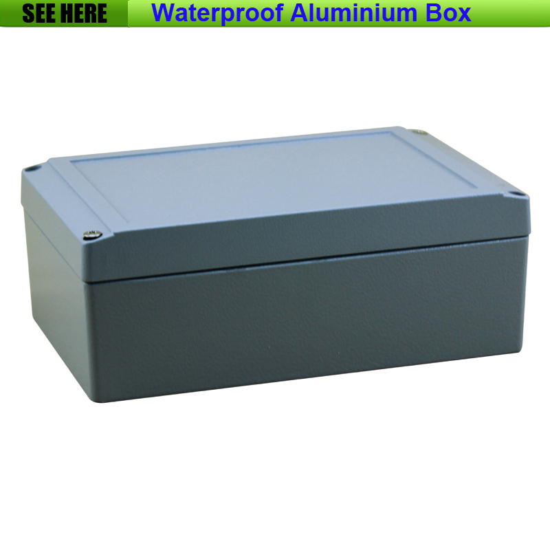 Free Shipping  1piece /lot Top Quality 100% Aluminium Material Waterproof IP67 Standard aluminium rectangular box 200*130*80mm 1 piece free shipping aluminium material