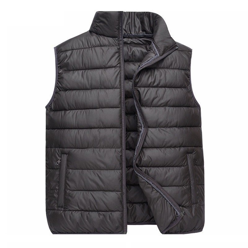 2018 Autumn Winter New Men Vest Jacket Solid Color Sleeveless Waistcoat Down Jacket Coat Male Casual Cotton Vest Plus Size 4XL