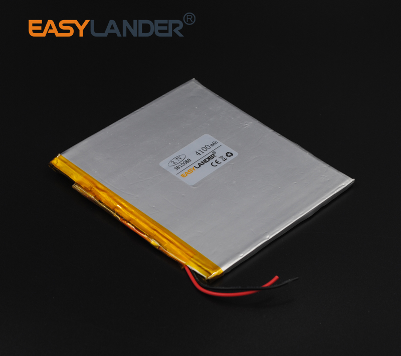 <font><b>3.7V</b></font> <font><b>4100mAh</b></font> Rechargeable li Polymer Li-ion <font><b>Battery</b></font> For Bluetooth Notebook Tablet PC electronics safety lamp 3810088 image