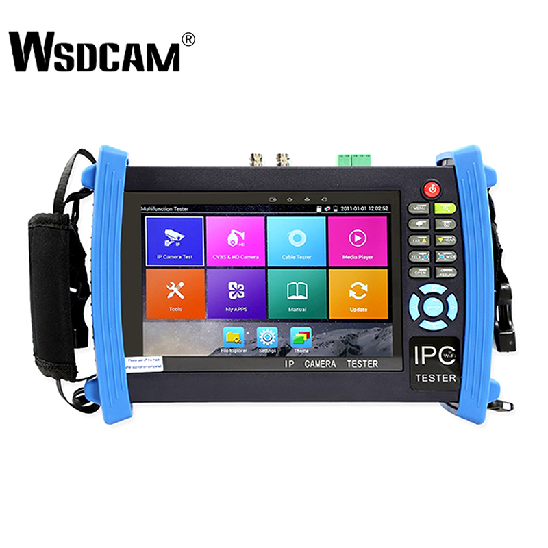 7 Inch Retina Dsplay IP Camera Tester CCTV Tester CVBS Analog Tester with POE/IP discovery/Rapid ONVIF/WIFI/8G IPC 8600 PLUS