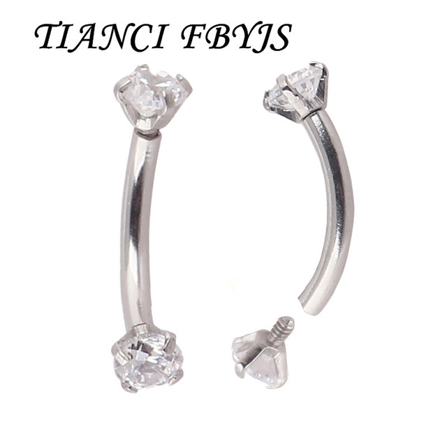 Tiancifbyjs Tragus Piercing Fashion Womans Eyebrow Piercing Ring