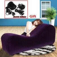 Venda limitada Cadeira Inflável Sofá Cama Posição Móveis Cadeira Do Amor Tecidos Para Mobiliário Sofá de Luxo Almofada Brinquedos Sexuais Para Casais