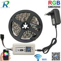 LED Strip Light DC12V 5M SMD5050 DiodeTape Single Colors And WiFi Controller Full Set Kit High
