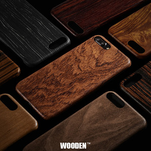 Image 1 - For Apple iPhone 6 6s Plus /7 /8 Plus SE2 2020 walnut Enony Real Wood Rosewood Wenge Apricot MAHOGANY Wooden Back Case Cover