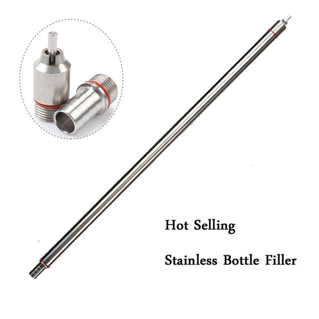 """New 13.7"""" length Spring Loaded Beer Bottle Filler Home Brewing Stainless Steel Wine Beer Bottling Homebrew"""