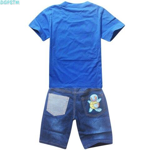 cartoon criancas pikachu t shirts calcas de