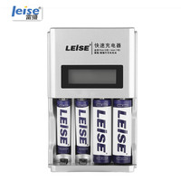 Leise Smart LCD Screen Fast Charging Battery Charger Adapter For AA AAA Rechargeable Battery 4 Slots