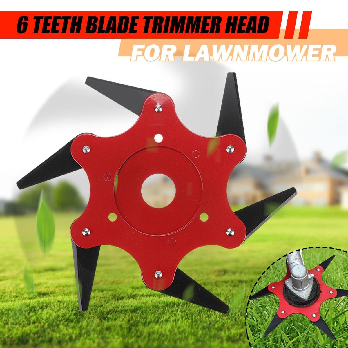 Updated Trimmer Head 65Mn 6 Teeths Blade Trimmer Head Brush Cutter Blade For Lawnmower