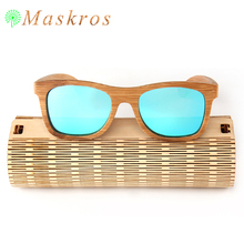 100% Natural Handmade Bamboo Sunglasses Polarized Men Women Sun Glasses For Female Polaroid Lens High Quality Bamboo Case Free