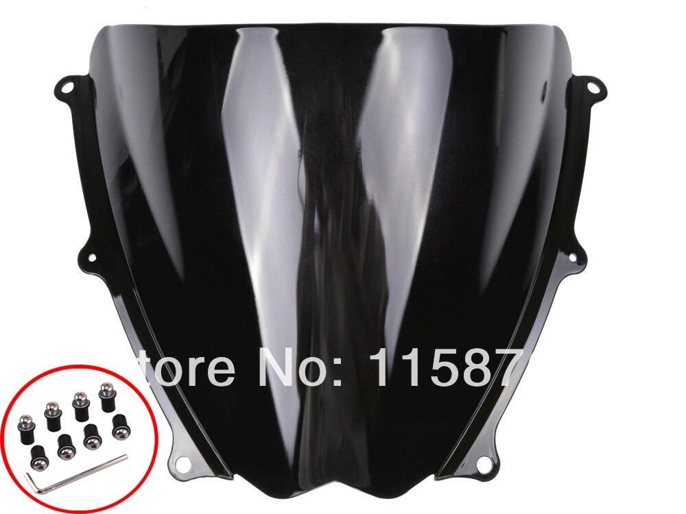 1XPCS Black Windshield WindScreen For Suzuki GSXR 1000 K7 2007 2008