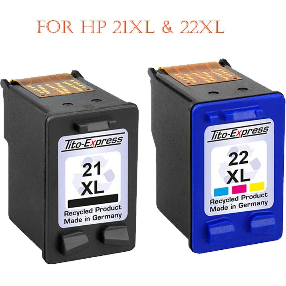 Hisaint Angebot Heißer Beste Remanufactured für HP 21XL & 22XL Tintenpatronen Für den einsatz mit Für HP Deskjet F375 F380 drucker
