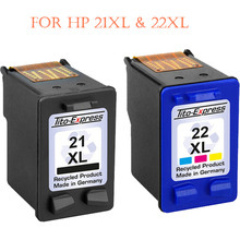 hisaint Listing Hot Best Remanufactured for  HP 21XL & 22XL Ink Cartridges For use with For HP Deskjet F375 F380 Printers