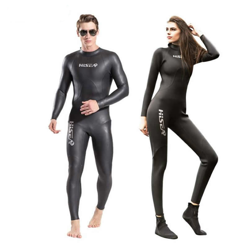 Hisea 3mm neoprene Wetsuit Light Skin One piece Diving Suits Surfing Men Women Couples Sunshine surf clothing full body swimwear 2018 new women s postpartum swimwear ladies sunscreen clothing ladies swimwear suit surf clothing diving clothing swimwear vy715