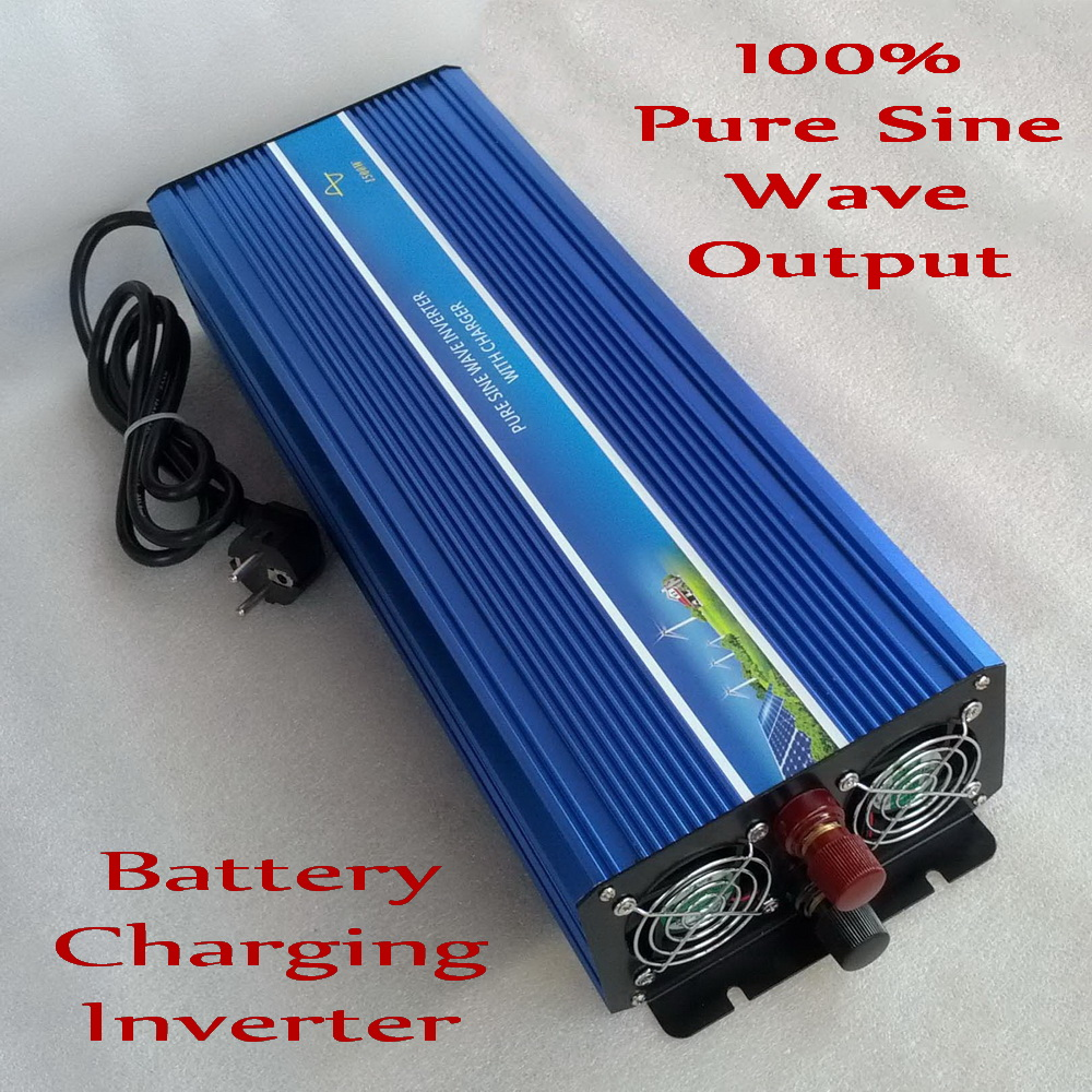 цена на 2000W Off Grid Inverter DC12V 24V to AC110V/220V, 100% Pure Sine Wave Output Battery Charging Inverter with peak power 4000W