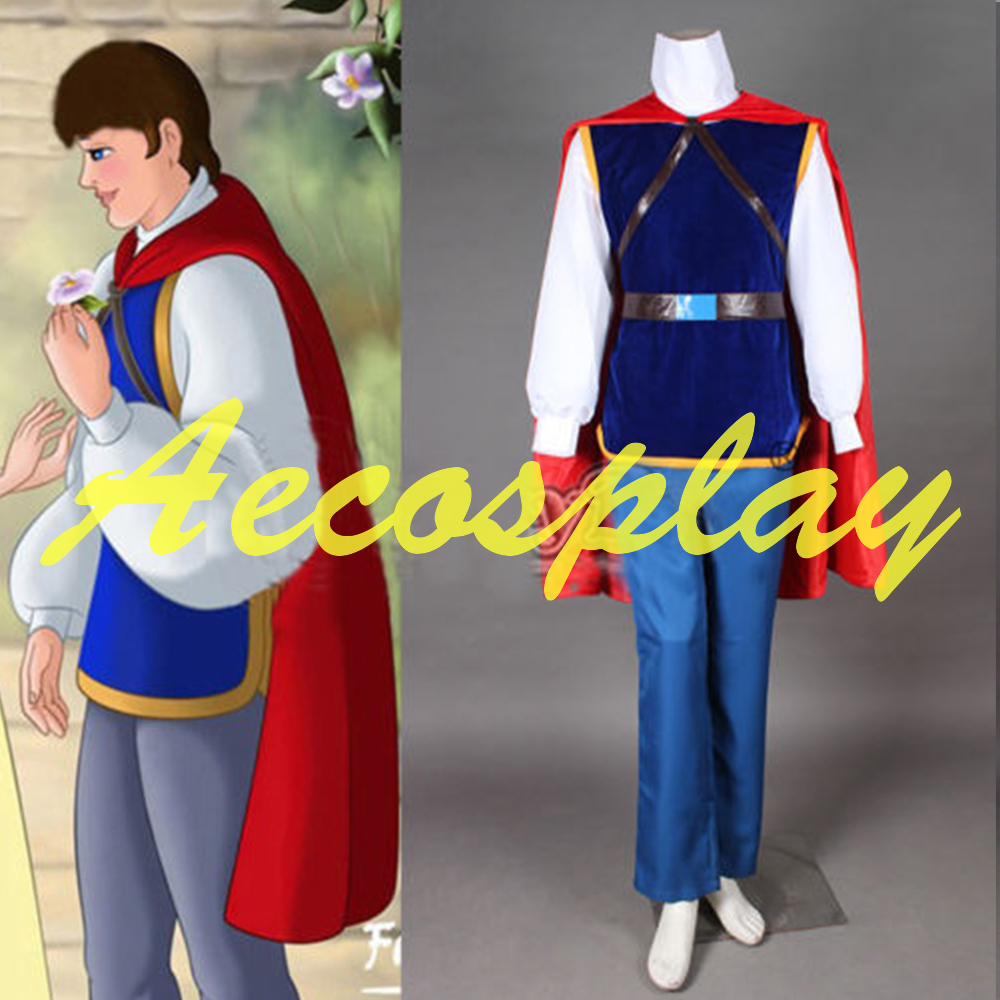 2016 Halloween Grimms Fairy Tales Snow White Prince Costume Movie Cosplay Costume Full Set