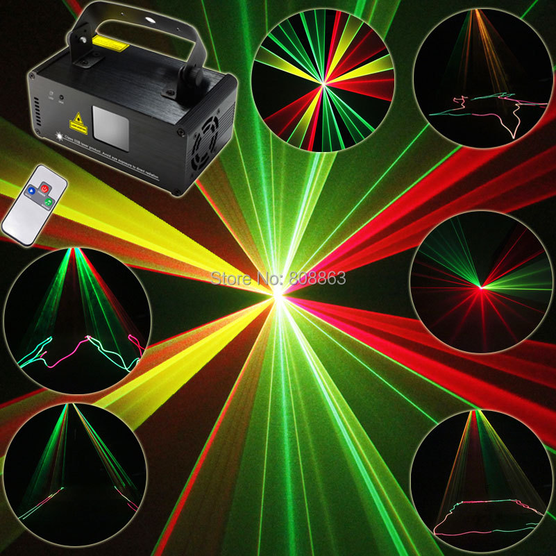 New 250mW RGY Laser Lines Beam Scans Remote DMX DJ Dance Bar Coffee Shop Xmas Home Party Disco Lighting Effect Light Show B116 140mw rgy laser light dmx disco club dj party ktv christmas lamp ctl rgy