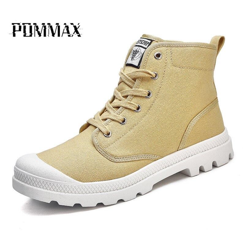 Grande taille hommes chaussures mode automne hiver hommes neige bottes toile chaussures pour homme nouveau haut chaussures d'escalade hommes baskets