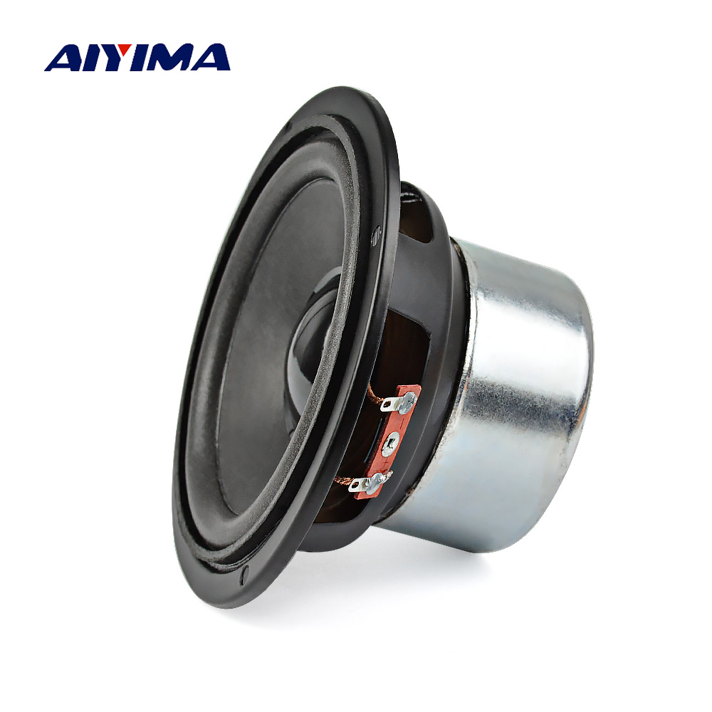 AIYIMA 1Pc 4 inch Audio Subwoofer Speaker 30 W 8 ohm Woofer Midrange Bass Computer Speakers For Home Theater Sound System цена 2017