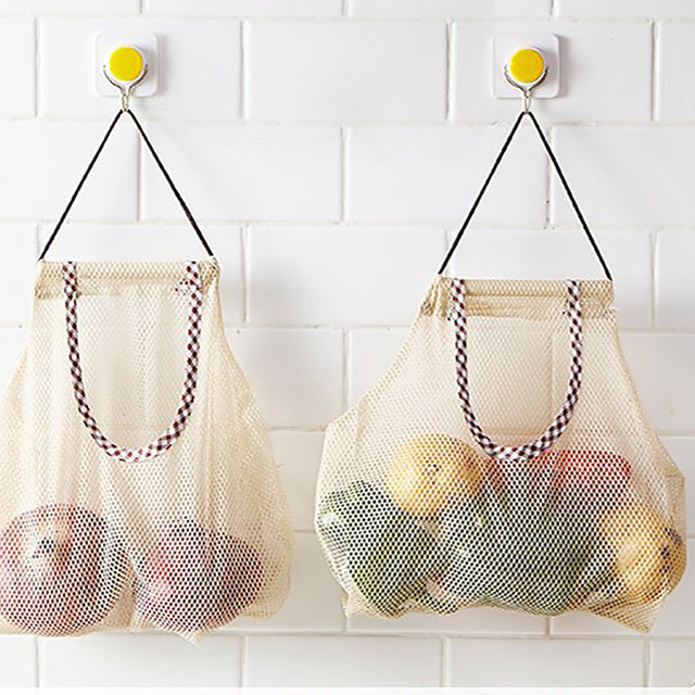2018 Kitchen Fruit And Vegetable Storage Bag Mesh