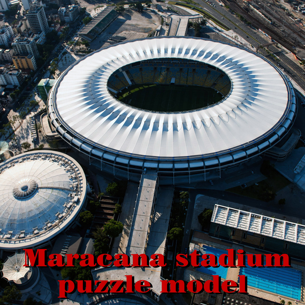 Brazil 3D Puzzle Model  Maracana Stadium  The 2016Rio De JaneiroOlympic Game Main Stadium Souvenir Paper Material
