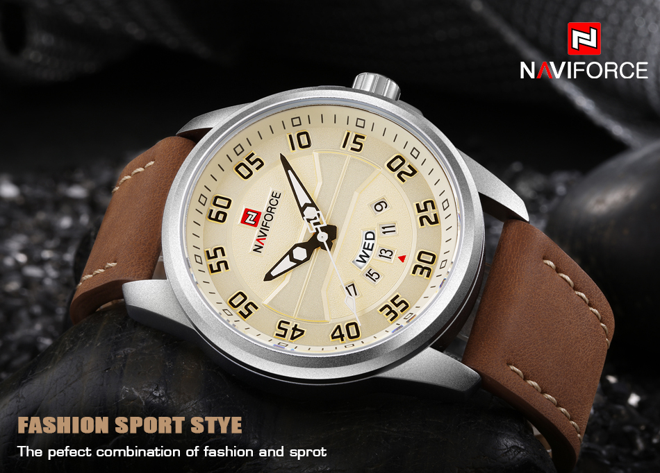 HTB1V PigYsTMeJjy1zbq6AhlVXa4 NEW Luxury Brand NAVIFORCE Men Fashion Sport Watches Men's Quartz Clock Man Leather Army Military Wrist Watch relogio masculino