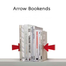 Novelty Arrow Bookends Magnetic Book Holder for Reading as Desk Book Organizer book holder for reading creative metal book clip bookstand london telephone booth iron bookends cartoon stationery a pair of pcs